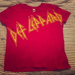 Def Leppard T-Shirt Band Concert Gear Large